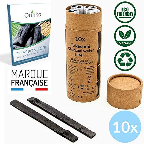 Binchotan Bio 10x   Charbon Actif Takesumi de Bambou pour Purification d'eau + E-Book   Passez-Vous des Eaux en Bouteille avec Notre Charbon Actif [𝗦𝗮𝘁𝗶𝘀𝗳𝗮𝗶𝘁 𝗼𝘂 𝗥𝗲𝗺𝗯𝗼𝘂𝗿𝘀𝗲]