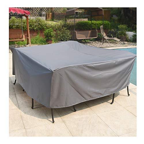 Lona resistente al agua resistente Muebles de jardín Cubo Patio cubierta de ratán Mesa Con cubierta de la silla protectora impermeable anti-UV Balcón Sofá profundo del asiento de poliéster, personaliz