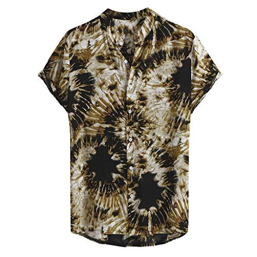 Camicie per Uomo Manica Corta Hawaiana Regular Fit Floreale Multi Color Petto Petto Petto Manica...