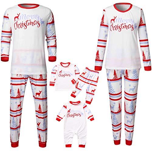 Famiglia Pigiama di Natale Mamma papà Bebè 2PC Cotone Camicie Manica Lunga + Pantaloni Set Invernale Primavera Indumenti da Notte per Uomo Donne Neonato Bambino