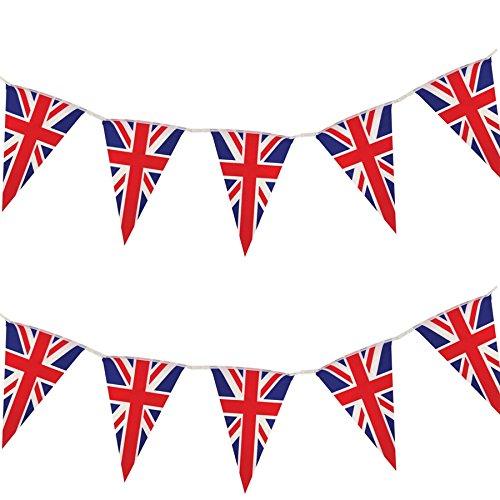Gifts 4 All Occasions Limited SHATCHI-688 Guirlande triangulaire en plastique Motif drapeau britannique Multicolore 152 m