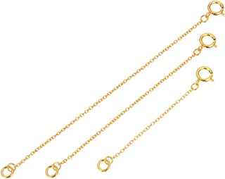 1 Set 14k Gold on Sterling Silver Chain Extender Strong Long Lasting - 2