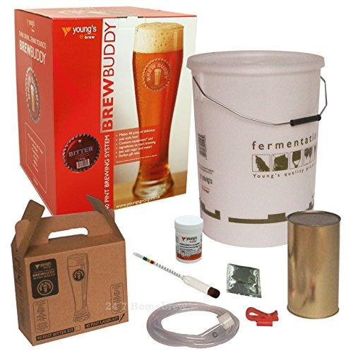 Brew Buddy Beer con Home Brew Starter Kit, kit per la distillazione di birra per 40 pinte