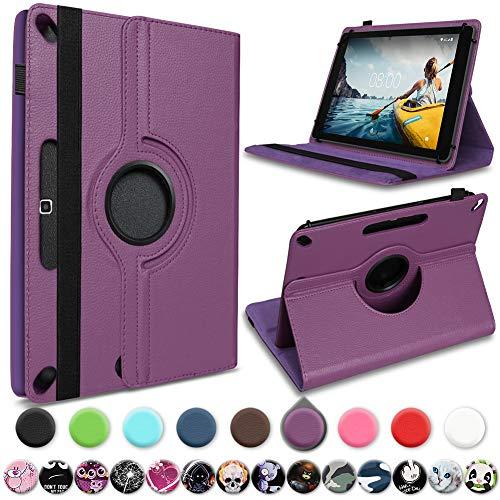 UC-Express Schutzhülle kompatibel für Medion Lifetab P10710 Tablet Hülle Tasche Cover 360° Drehbar, Farbe:Lila