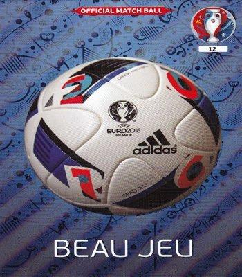 Panini UEFA Euro 2016 - Beau Jeu Official Match Ball Card by Adrenalyn XL