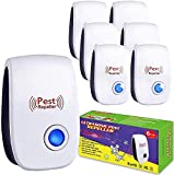 DOOGAXOO Pest Repeller 6 Pack,Ultrasonic Pest Repellent,Pest Control Plug in Indoor Home Restaurants Warehouse Office - Mosquito,Mouse,Cockroach,Rat,Bug,Spider - Reliably for Pet and Human,White