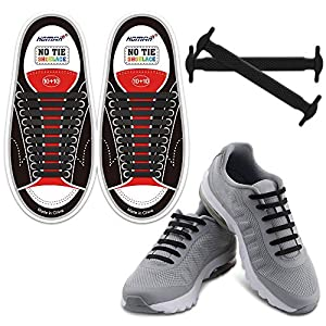 HOMAR No Tie Shoelaces for Kids and Adults Stretch Silicone Elastic No Tie Shoe Laces