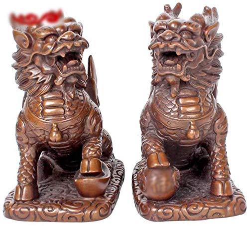 BLCVC - Estatua de Cobre, Feng Shui, para inauguración, decoración, Feng Shui (tamaño: 12 x 7 x 12 cm), 12 * 7 * 12cm