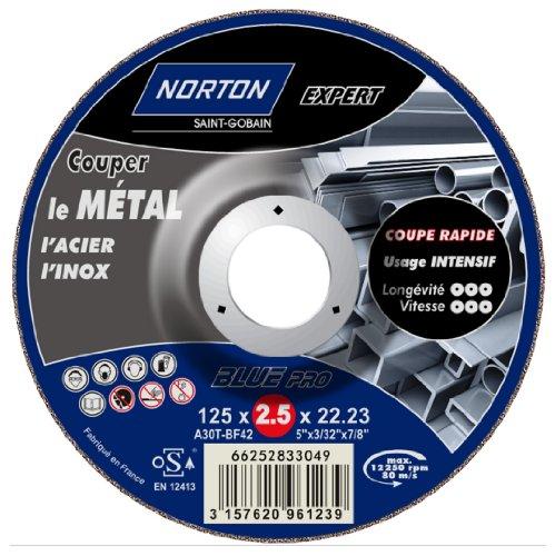 Norton Expert kettingzaag, metaal/roestvrij staal, 125 x 2,5 x 22,2 mm