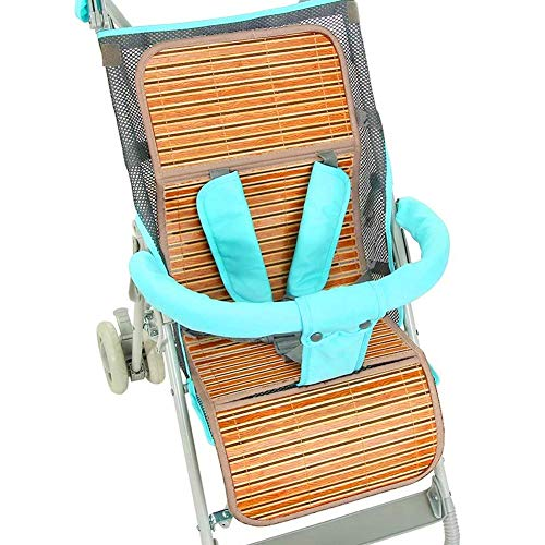 Liukouu Cochecito Cool Mat, Summer Baby Stroller Cool Mat Bamboo Pad Funda de Asiento Funda de colchón Kid Seat Protection Accesorio(75x30)