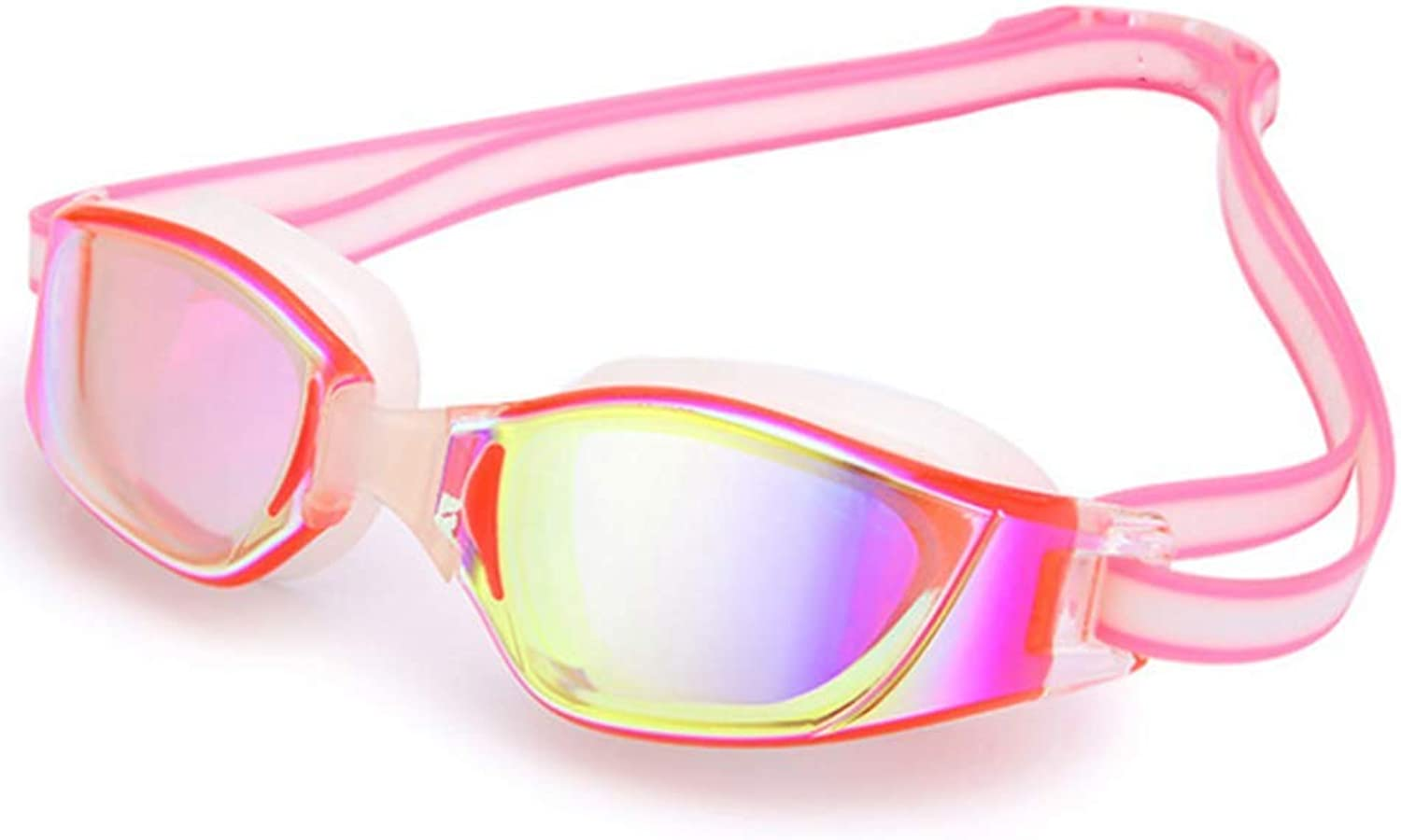 HD Sports Goggles AntiFog Lens Waterproof AntiUV Suitable for Adult Male Female deep Pink
