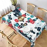 Mantel Rectangular,sfondo astratto con Set di cerchi multicolori Modello Senza,Mantel Lavable Resistente a Las Arrugas para Fiestas, Bodas, Cocina, Navidad, Cubierta de Mesa de Buffet 152x228cm