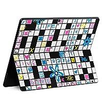 igsticker Surface Pro X 専用スキンシール サーフェス プロ エックス ノートブック ノートパソコン カバー ケース フィルム ステッカー アクセサリー 保護 011765 英語 クロスワード 花