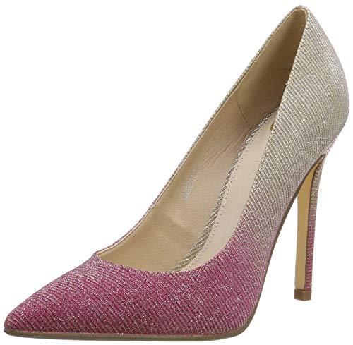 Buffalo Amica, Zapatos Tacón Mujer, Beige Nude Glitter