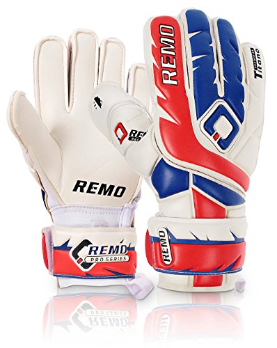 REMO Sports Titano Latex Torwarthandschuhe Flat Cut (rot, 9)