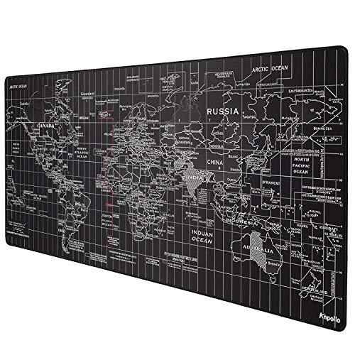 Anpollo Alfombrilla Raton Grandes World Map Alfombrilla de ratón Gami