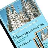 Data Ufficio DU168512C00 Contabilità e Società - IVA REGISTRO DEI CORRISPETTIVI MODULI AUTORICALCANTI IN DUPLICE COPIA 12 MESI FORMATO A4 29.7X21… (2)