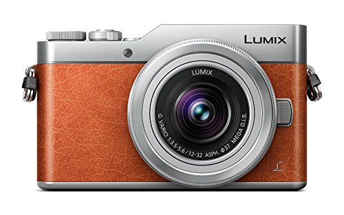 Panasonic Lumix DC-GX800KEGD Systemkamera (16 Megapixel, 4K30p Videoaufname,Hybrid Kontrast AF, mit Objektiv Lumix G VARIO 12-32mm/F3.5-5.6 ASPH) Orange