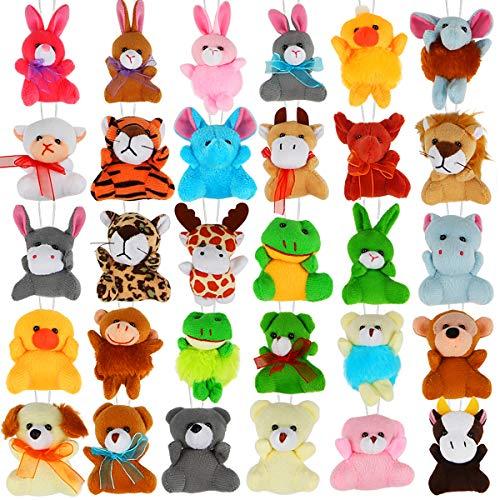 30 Pack Mini Plush Animals Toys Set