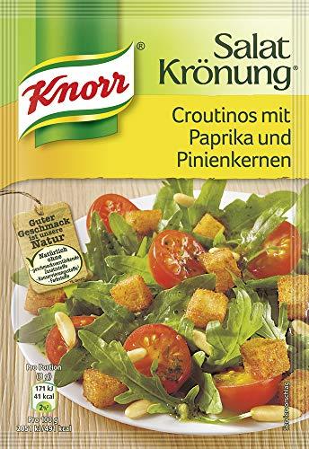 Knorr Salatkrönung Croutinos mit Paprika und Pinienkernen (1 x 25 g)