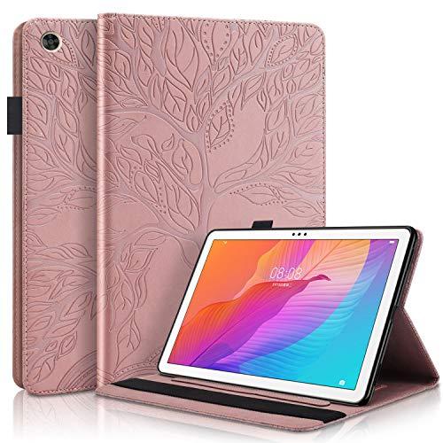 Tedtik Funda para Huawei T10 T10s 10.1'Funda Delgada a Prueba de Golpes con Función de Soporte para Huawei Matepad T10 T10s 10.1 Pulgadas Tablet 2020 Lifetree - Oro Rosa
