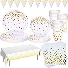 Weiß und Gold 99 Stück