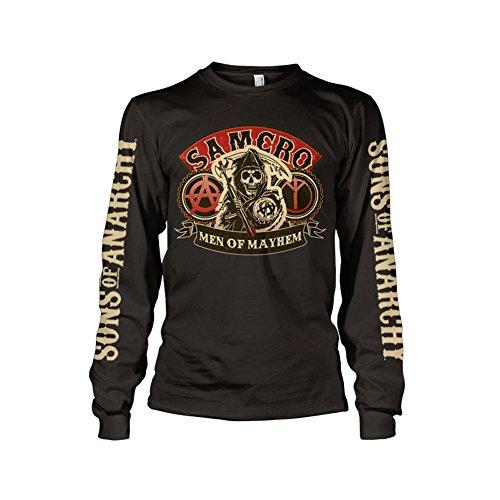 Officially Licensed Merchandise Samcro - Men of Mayhem Long Sleeve T-Shirt (Black), X-Large