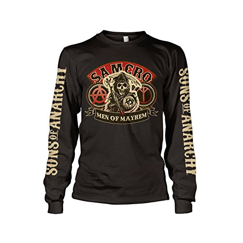 Officially Licensed Merchandise SAMCRO - Men Of Mayhem Long Sleeve T-Shirt (Black), Medium