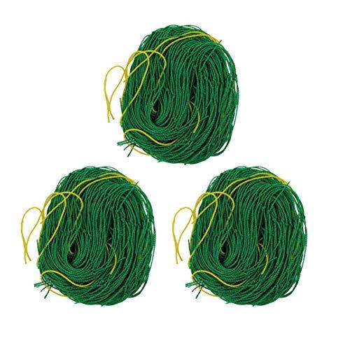 DOITOOL 3PCS Heavy Duty Plant Trellis Netting for Climbing Plants Nylon Garden Netting for Plants,Vegetable,Cucumber Trellis (0.9x1.8m)