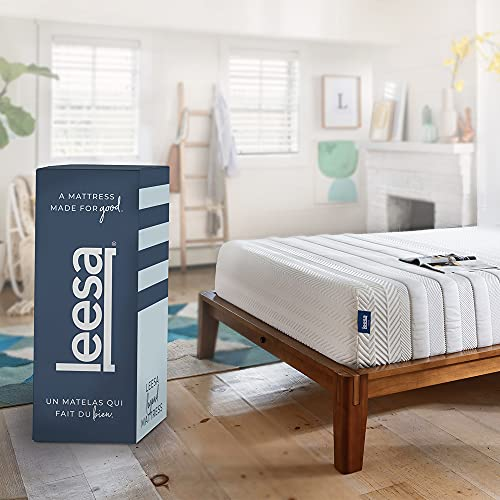 Leesa Legend Mattress, King Size Memory Foam Bed-in-a-Box, 12'/ CertiPUR-US Certified/with Organic Cotton Mattress Cover
