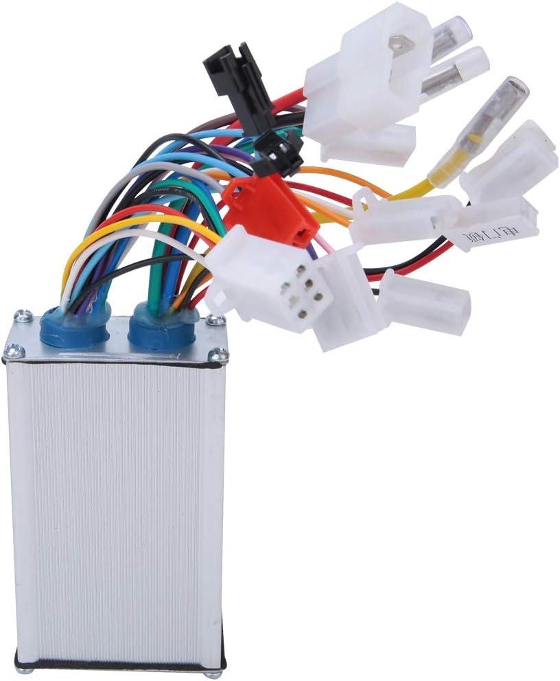 Bediffer Controlador de motor E-Bike, RQ-XCL16 controlador de motor de scooter de módulo dual con controlador sin escobillas de motor para suministros industriales para adultos
