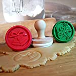 Christmas-Silicone-Cookie-Stamps-Set-of-3-Heat-Resistant-Stamps-Include-Christmas-Bell-Reindeer-Tree-and-1-Wood-Press-Party-Novelty-DIY-Baking-Gift-Non-stick-and-BPA-Free