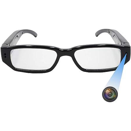 Fonmi メガネカメラ 超小型スパイカメラ 隠しメガネ型カメラ 防犯カメラ 高画質1080P録画 録音 防犯用 会議 商談 証拠撮影 日本語取扱説明書付き