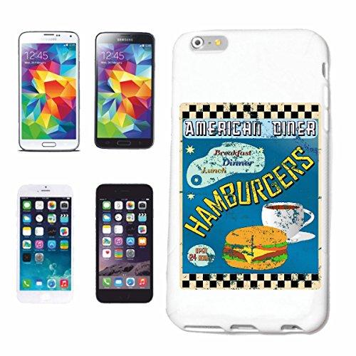 Helene telefoonhoes compatibel met Samsung Galaxy S8+ Plus American Diner Hamburger ontbijt lunch calorieën DIët Cheeseburger koffie DIÄT AFnemen KALOR