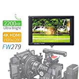 Feelworld FW279 7 Pouces Ultra Lumineux Caméra Moniteur DSLR Camera Field Monitor Full HD Focus...