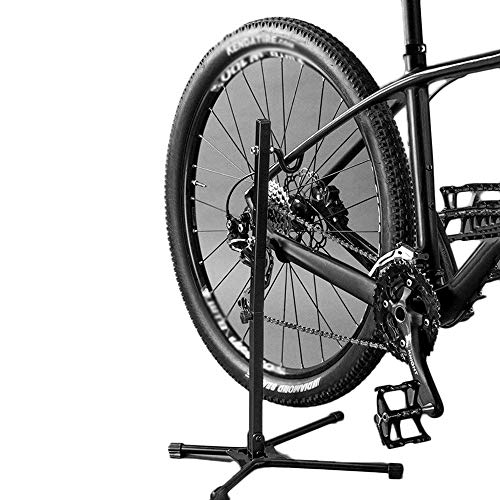 ZSJ Folding 3 in 1 Bicycle Parking Rack, Multifunctional Bike Repair Support Frame, Portable Display Stand for Road or Mountain Bicycle, L13.8H25.6inch