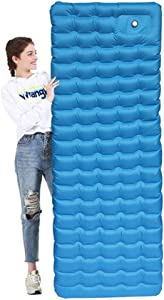 4 72 Inch Ultralight Inflatable Sleeping Pad  Portable Compact Thick Lightweight Air Mattress  Suitable for Camping  Picnic  Traveling and Party