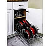 Hardware Resources Pots and Pan Orgainzer for 15' Base Cabinet MPPO15-R by Cabinet Organizers