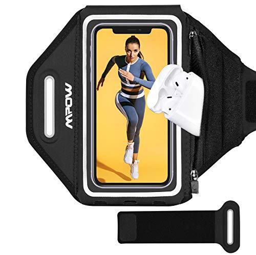 Mpow Brazalete Deportivo 6.2 Pulgadas Compatible para iPhone 11/11 Pro/11 Pro MAX/XS MAX/X/8 Plus/8/7/6, Galaxy S10/S9/S8 Correa Ajustable,