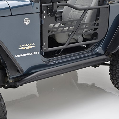 EAG Side Armor Rock Guards Fit for 07-18 Jeep Wrangler JK 2 Door