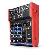 NDHENG Table de mixage Polyvalente avec Interface USB Audio Carte de mixage Audio pour Musique à Domicile, de Webdiffusion, de Chant, de Petite Fête