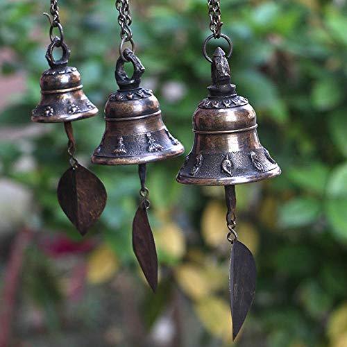 Tangyuan Pure koper handgemaakte Nepalese kleine koperen bel decoratie ornamenten thuis gemaakte klokken wind klokken balkon welkom deur decoratie Diameter: 7 cm.