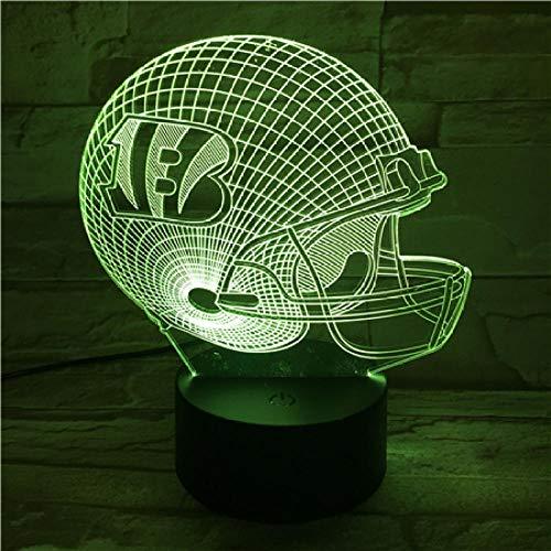 3D-Illusionslampe Farbwechsel Acryl LED Nachtlicht Kunst Skulptur Lichter Dekoration USB-Ladegerät Ziemlich cool Spielzeug Geschenke Geburtstag, Valentinstag, Baseballkappe