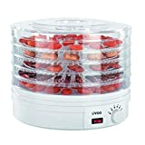 LIVOO DOM202 Food | 5 Trays | Adjustable Temperature | Fruit and Vegetable Dehydrator, 250 W, White