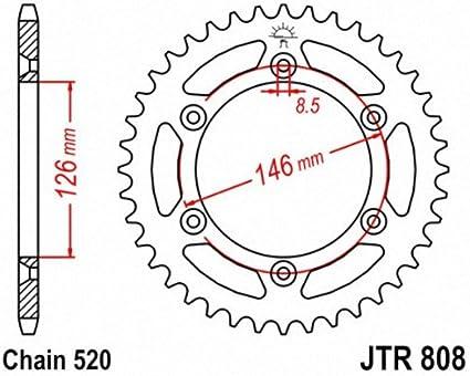Driven 5068-520-44T 520 Steel Rear Sprockets 44T
