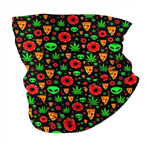 Alien Donut Schal für Gesicht, Pizza, Maske, Bandanas, Hüte, Halstuch, Stirnband, 12 in 1, multifunktional, für Festivals von Musik, Raves, im Freien, Sport