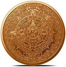 Aztec Calendar, Aztec Emperor Cuauhtemoc, 1 Oz Copper Round