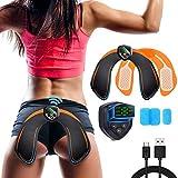 YzyH Hips Trainer Electrostimulateurs fessier,Intelligent Portable Massage pour Aider à Façonner Le Muscle et à Sculpter Les Courbes et Raffermir Les Fesses Femme Homme Affichage LED (Orange)