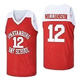Men's #12 Zion Williamson Spartanburg Griffin Day High School Basketball Jersey...