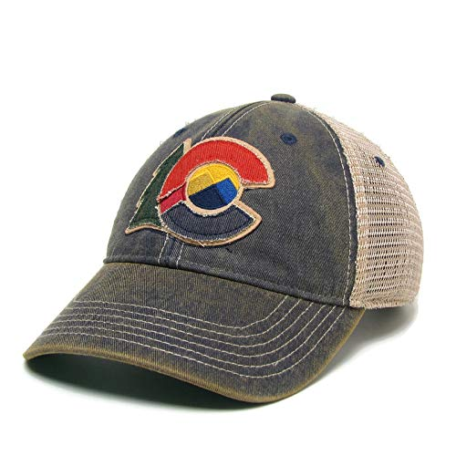 Legacy Athletic New Colorado Flag Logo Trucker Cap Navy